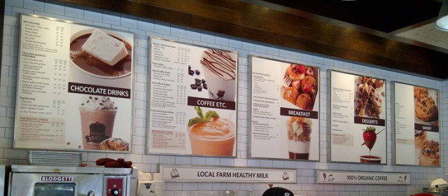 Freestanding Light box Menu: