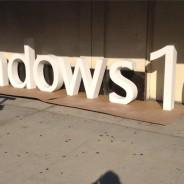Microsoft Windows 10 3D PVC Letters